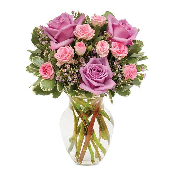 Pastel Rose Garden Bouquet